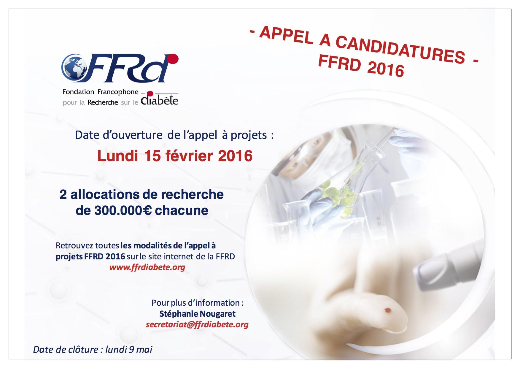Appel à projets FFRD 2016